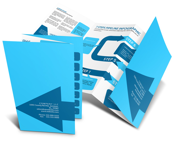 accordion brochure template - 8 page accordion fold brochure mockup cover actions