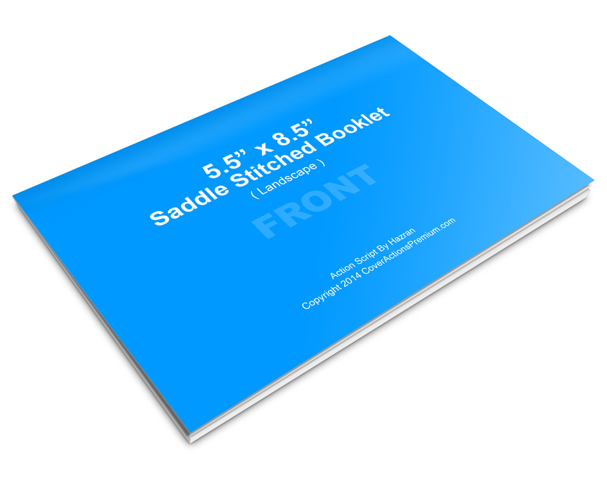 Horizontal Calendar Book Mockup Cover Actions Premium