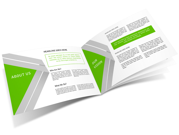 8 page a5 horizontal brochure mockup cover actions for Horizontal brochure template