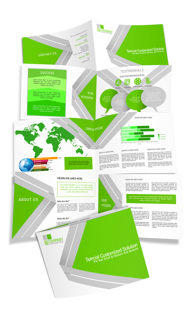 8 page a5 horizontal brochure mockup cover actions for 8 page brochure template