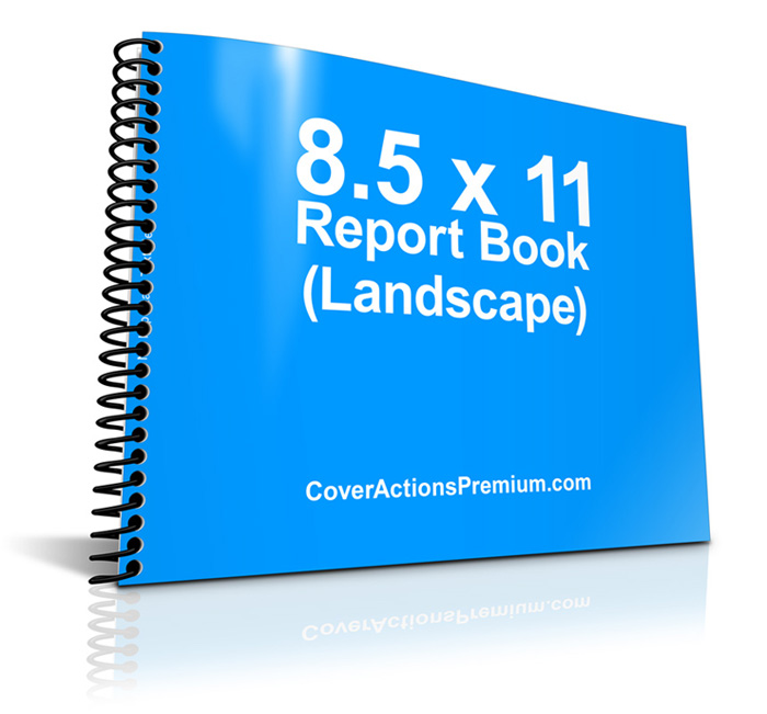 11 X 8 5 Spiral Bound Book Mockup Pt 1 Cover Actions