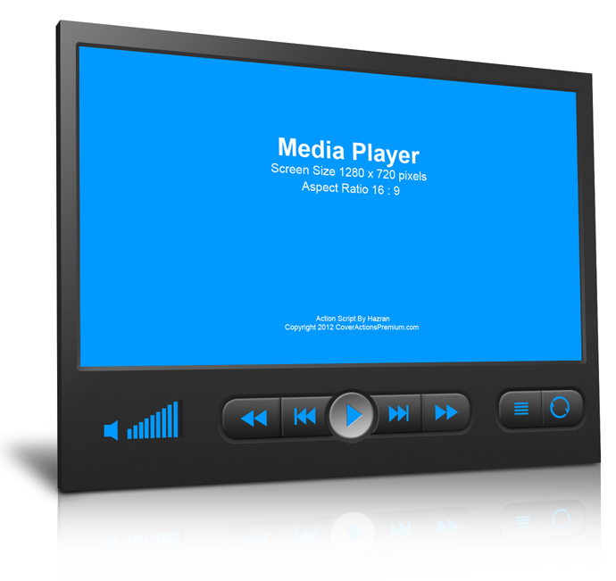Media Player Device Mock Up Cover Action Set Cover