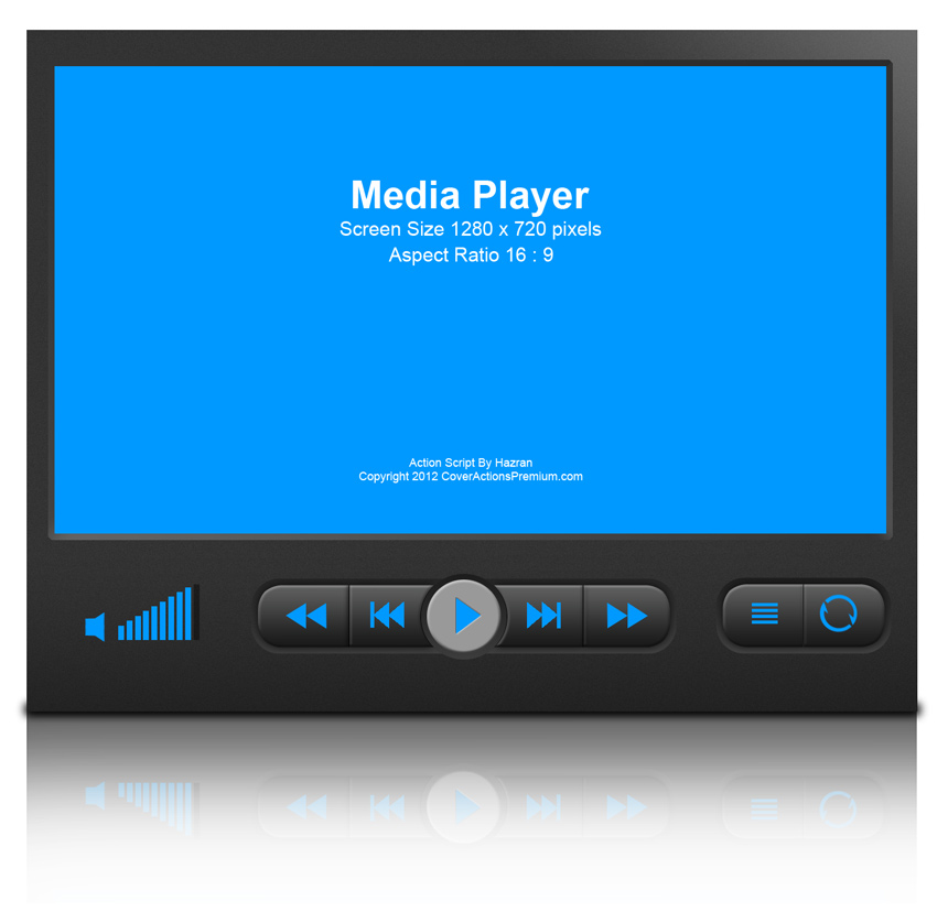 Media Player Device Mock Up Cover Action Set Cover Actions