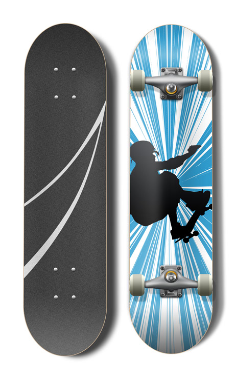 Skateboard Mock Up Actions Cover Actions Premium
